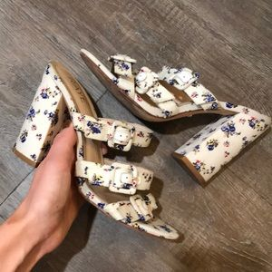Raye the label floral heels